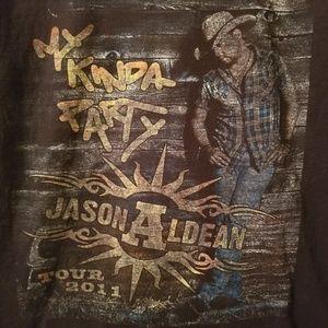 Jason Aldean 2011 Tour Tee size m